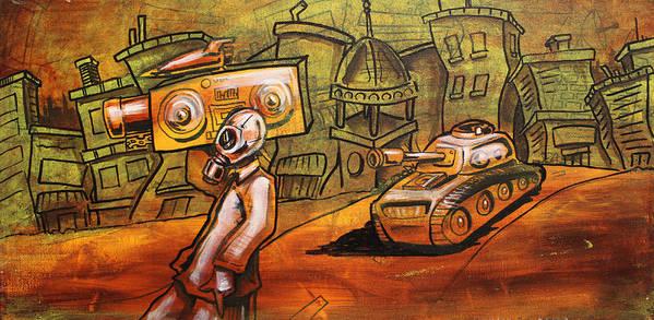 Rap Poster featuring the painting Rap Battle by Joshua Dixon