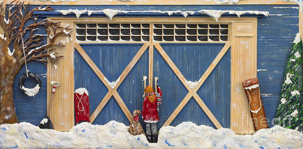 Snow Poster featuring the sculpture Snowed In by Anne Klar