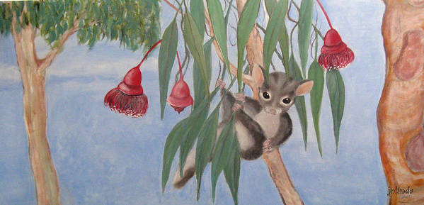 Australia Poster featuring the painting Sugar Glider by Joanne Seath