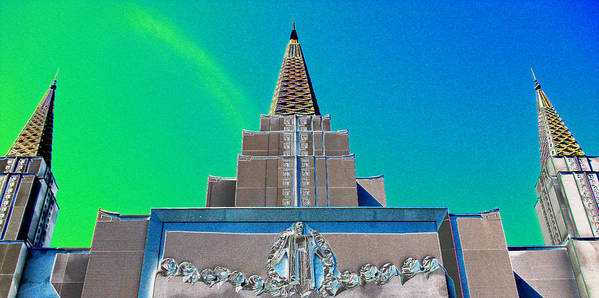 Lds Poster featuring the photograph Tabernacle Dream 1 by Samuel Sheats