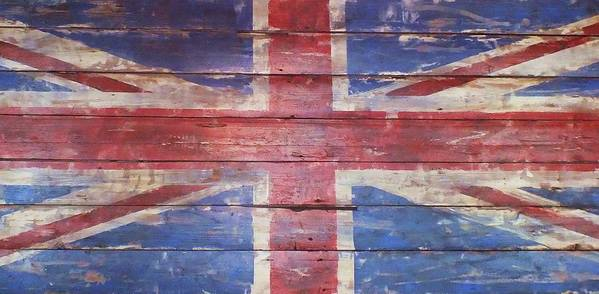 Flag Poster featuring the photograph The Union Jack by Anna Villarreal Garbis