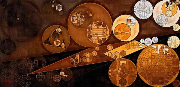 Zinnwaldite Brown Poster featuring the digital art Abstract Painting - Pale Gold by Vitaliy Gladkiy