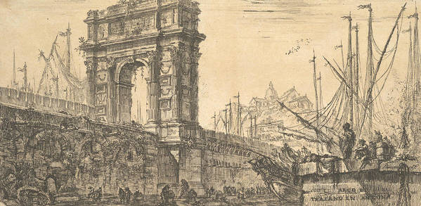 18th Century Art Poster featuring the relief Arch Of Trajan In Ancona by Giovanni Battista Piranesi