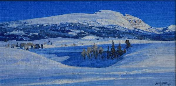 Landscape Poster featuring the painting Clear And Cold by Lanny Grant