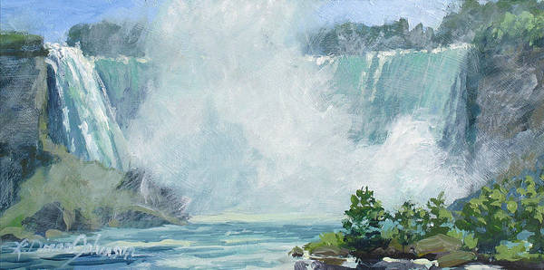 Niagara Falls Poster featuring the painting Crystal Mist by L Diane Johnson