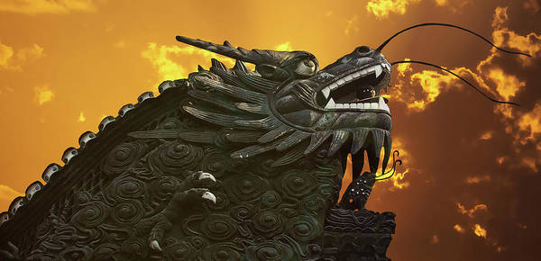 Walls Poster featuring the photograph Dragon Wall - Yu Garden Shanghai by Christine Till