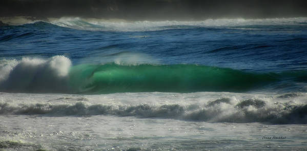 Sea Poster featuring the photograph Emerald Sea by Donna Blackhall