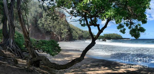 Aloha Poster featuring the photograph Enchanted Rocks Koki Beach Haneoo Hana Maui Hawaii by Sharon Mau