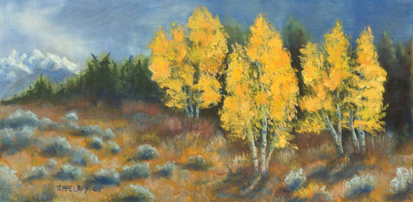 Landscape Poster featuring the painting Fall Delight by Jerry McElroy