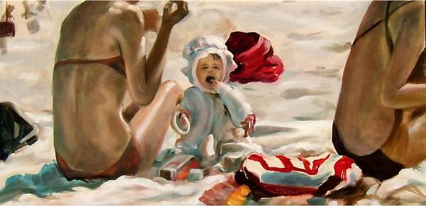 Baby Poster featuring the painting Feed Me by Dave Kimbrell