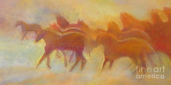 Horses Poster featuring the painting Foolin Around I by Kip Decker