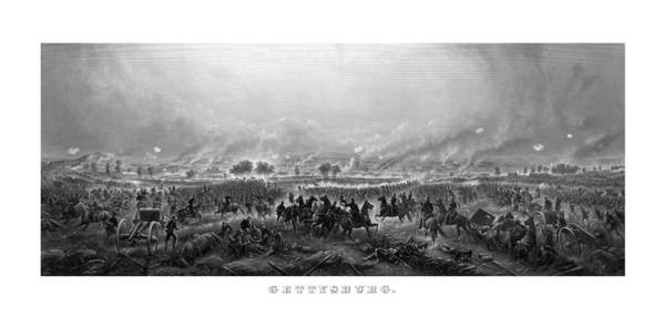 Gettysburg Poster featuring the painting Gettysburg by War Is Hell Store