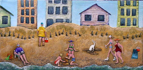 Beach Poster featuring the painting Life's A Beach by Linda Carmel