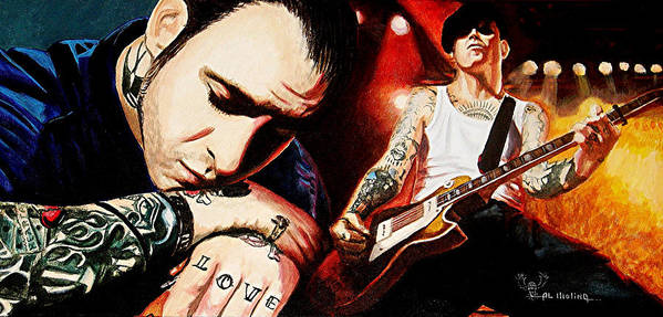 Social Distortion Poster featuring the painting Mike Ness 'nuff Said by Al Molina