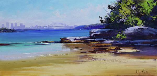 Sydney Poster featuring the painting Milk Beach Sydney by Graham Gercken