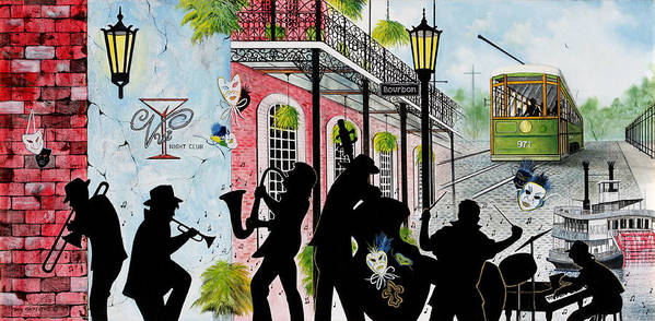 City Poster featuring the painting New Orleans Magic by Don Griffiths