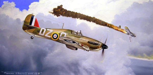 Aviation Art Poster featuring the painting One Of The Few by Marc Stewart