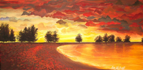 Landscape Poster featuring the painting Only Once by Lori Ulatowski