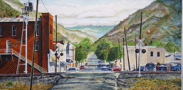 Appalachia Poster featuring the painting Rainbow In Rust by Thomas Akers