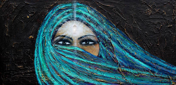 Mystic Poster featuring the painting Shambala by NARI - Mother Earth Spirit