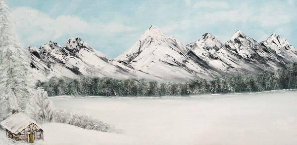 Alaskan Landscape Poster featuring the painting Solitude by Ofelia Uz