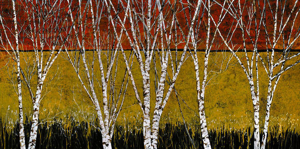 Birches Poster featuring the painting Tante Betulle by Guido Borelli