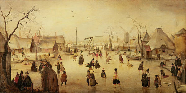 Pleasures Poster featuring the painting The Pleasures Of Winter by Hendrik Avercamp
