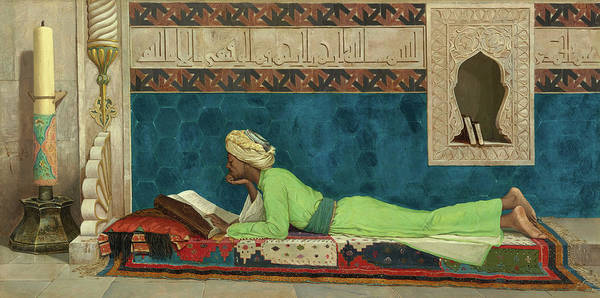 The Scholar Poster featuring the painting The Scholar by Osman Hamdi Bey