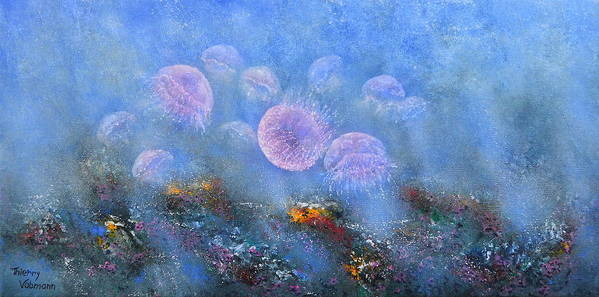 Seascape Poster featuring the painting Transparent Beauties by Thierry Vobmann