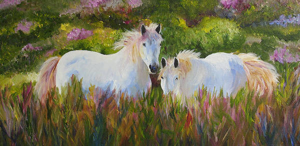 Horse Poster featuring the painting Two Friends by Mary Jo Zorad