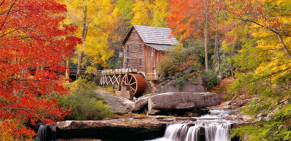 Photography Poster featuring the photograph Usa, West Virginia, Glade Creek Grist by Panoramic Images