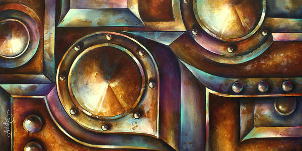 Abstract Design Poster featuring the painting ' The Keep ' by Michael Lang