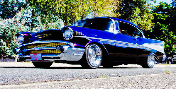 Custom Chevrolet Poster featuring the photograph 1957 Chevrolet Bel Air by Phil 'motography' Clark