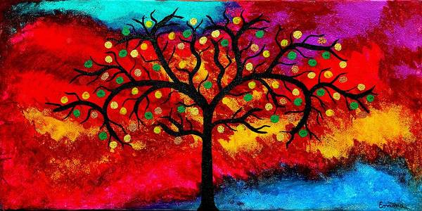 Best Art Choice Award Original Abstract Oil Painting Modern Trees Contemporary Home Deco Gallery Poster