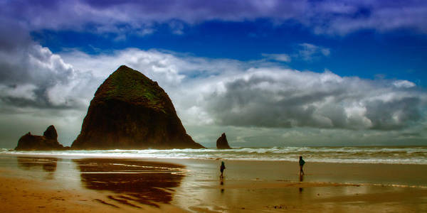 Cannon Beach Poster featuring the photograph Cannon Beach At Dusk II by David Patterson