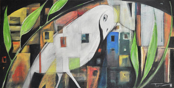 Bird Poster featuring the painting City Strut by Tim Nyberg