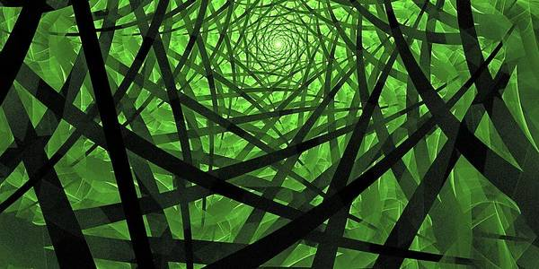Fractal Abstract Poster featuring the digital art Coaxial Jungle by Doug Morgan