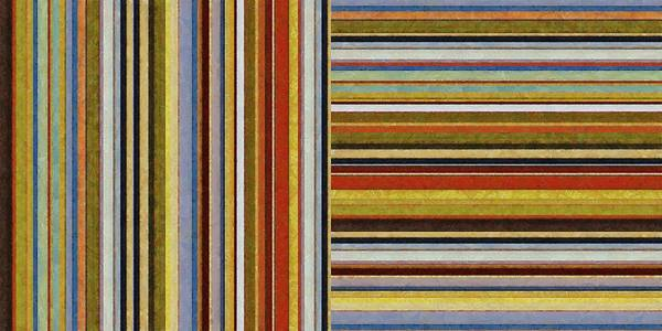 Textural Poster featuring the painting Comfortable Stripes Lx by Michelle Calkins
