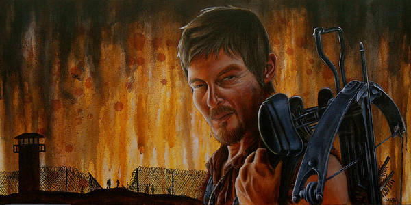 Daryl Poster featuring the painting Daryl by Marlon Huynh