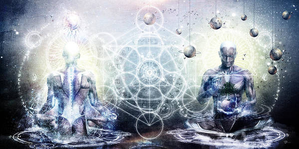 Spiritual Poster featuring the digital art Experience So Lucid Discovery So Clear by Cameron Gray