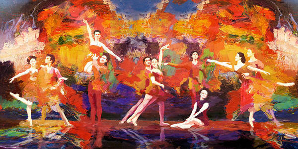 Jazz Poster featuring the painting Flamenco Dancer 022 by Catf