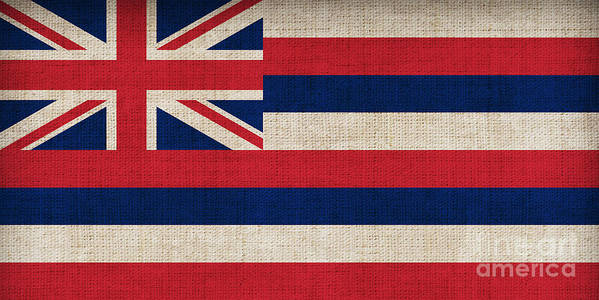 Hawaii Poster featuring the painting Hawaii State Flag by Pixel Chimp
