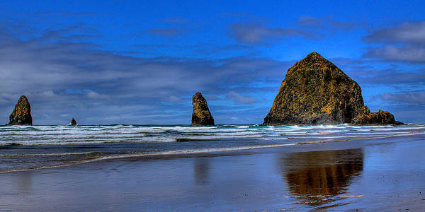 Cannon Beach Poster featuring the photograph Haystack Rock And The Needles IIi by David Patterson