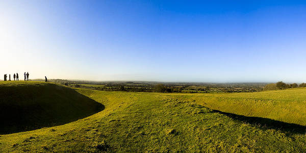 Hill Of Tara Poster featuring the photograph Hill Of Tara - Landscape Panorama by Mark E Tisdale