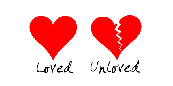 Opal Art Love And Unloved Poster featuring the digital art Loved Unloved by Opal Belgartha