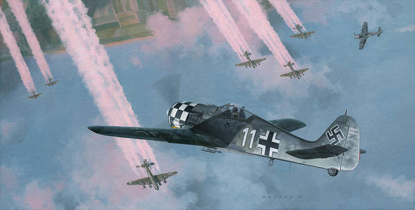 Fw 190 Poster featuring the painting Most Dangerous Game by Wade Meyers
