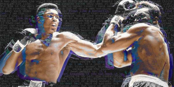 Muhammad Ali Poster featuring the painting Muhammad Ali by Tony Rubino