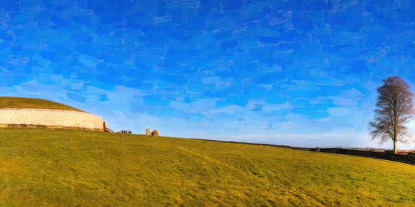 Ancient Observatory Poster featuring the photograph Newgrange - Ancient Observatory In Ireland by Mark E Tisdale