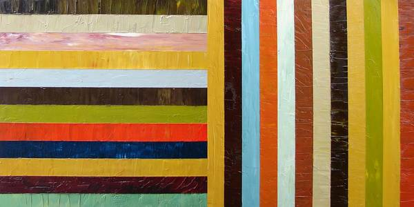 Original Art Poster featuring the painting Panel Abstract L by Michelle Calkins