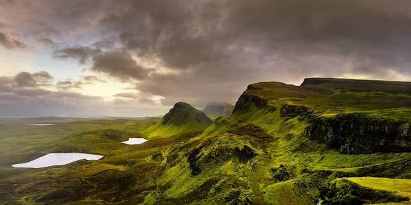 Isle Of Skye Poster featuring the photograph Primeval Earth - Isle Of Skye Panorama by Mark E Tisdale